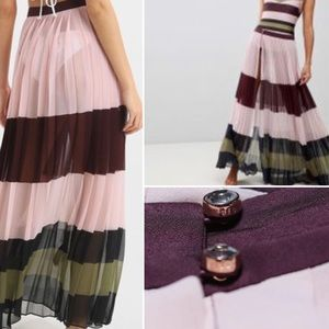 NEW Ted Baker dusty pink skirt/maxi skirt